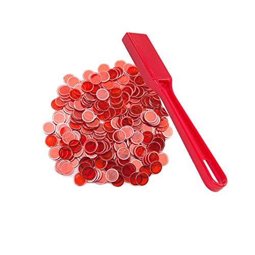 Bingo Chips - Penguin Crate Bingo Magnetic Wand with 100 Magnetic Chips - Red