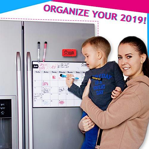 Magnetic Dry Erase Calendar for Refrigerator - Best Family Calendar for Fridge 16,5