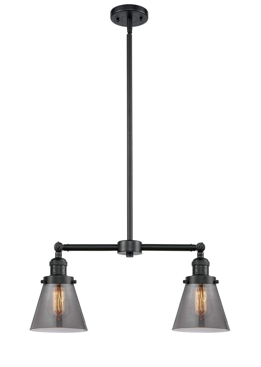Innovations 209-OB-G63-LED 2 Light Vintage Dimmable LED Chandelier Oil Rubbed Bronze