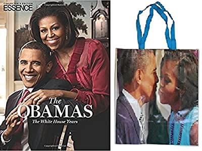 ESSENCE The Obamas: The White House Years ( Hardcover) & Bonus Bag -Gift Set