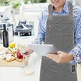 IKEPOD Professional Cooking Chef Apron - Kitchen