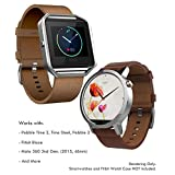 22mm Leather Band Quick Release (Pebble Time 2/Steel, Pebble 2, Fitbit Blaze), Truffol Strap Genuine Leather (Vintage Cognac Brown)