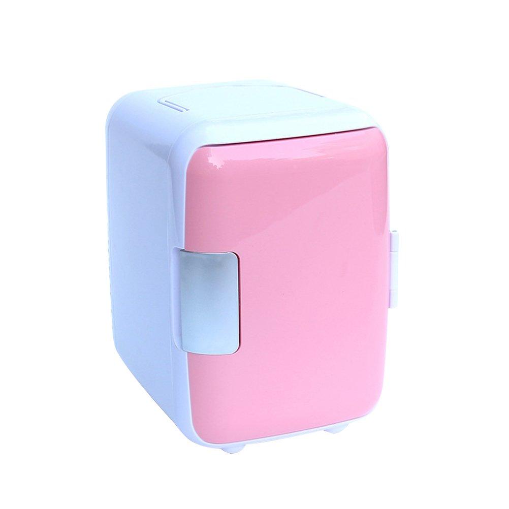 VORCOOL 4L Mini Refrigerator Cooler and Warmer Portable Mini Vehicle Refrigerator (Pink) 3S110026MW1393Q