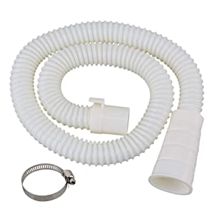 3.2 ft Washing Machine Drain Hose Extension Kit,Universal Fit All Drain Hose