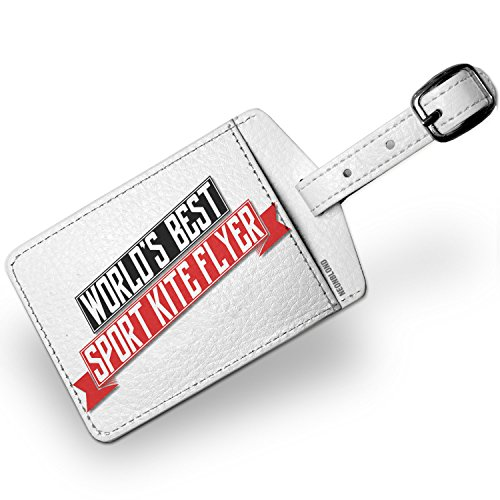 Luggage Flyer Tag (Luggage Tag Worlds Best Sport Kite Flyer - NEONBLOND)