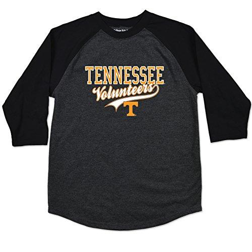 College Kids NCAA Tennessee Volunteers Youth Home Run Raglan Tee, Size 8-10 /Small, Black