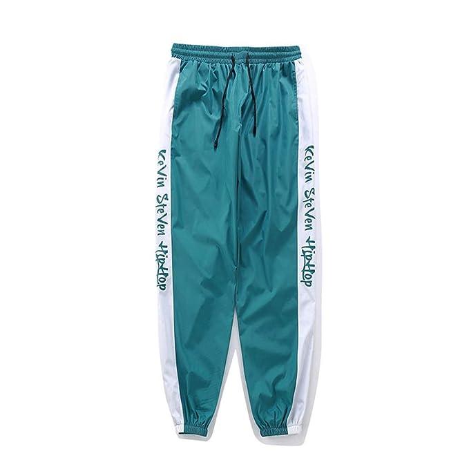 Hombres Pantalones Harajuku Bloque Patchwork Baggy Joggers ...