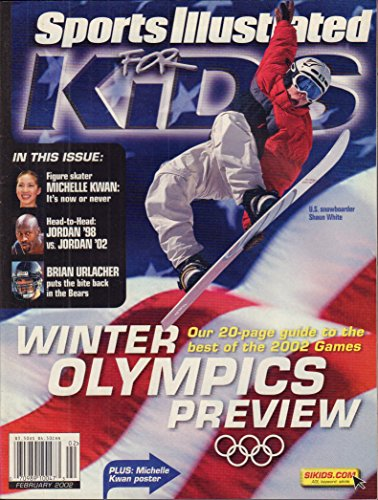 (Sports illustrated for Kids February 2002 with 9 Mint cards Brett Farve, Baron Davis, Ichiro Suzuki )