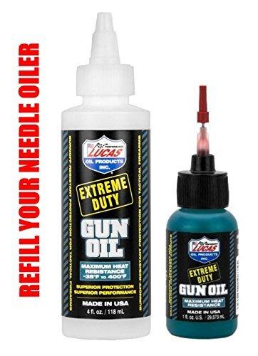 LUCAS Extreme Duty REFILL 4oz Gun Oil 10877 & 1oz Needle Oiler 10875 by Lucas Oil