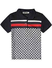 Boys Turn-Down Collar Short Sleeve Polo Shirts