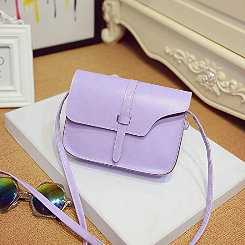 LHWY Las Mujeres de Piel Sintética Bolsa Crossbody Bolsa Bolso de Hombro Púrpura
