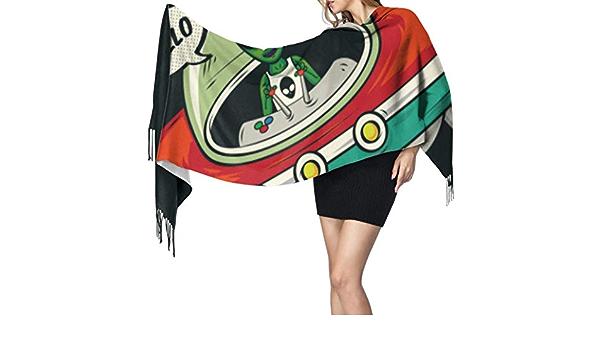 Alien Invasion Vector Illustration Bufanda para mujer Bufanda ...
