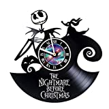 kidsroom design ideas Nightmare before Christmas Incredible Vinyl Record Vintage Wall Clock - Room decor Unique Living Kitchen KidsRoom Wall Decor - Gift idea for children, teens, adults - Leave a feedback and win a clock!