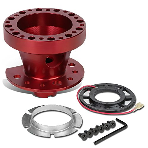 - Aluminum Steering Wheel 6-Hole Hub Adaptor Kit (Red) For Civic/CRX/Integra