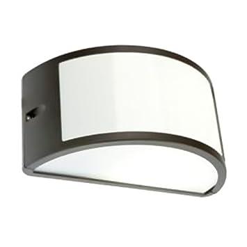 Applique mezzaluna moderna lampada da parete per esterno grigio ...