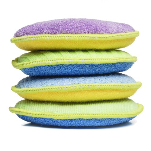 - Starfiber Microfiber Kitchen Scrubbies, 4-Pack