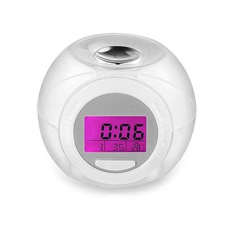 Despertador Digital con Alarma, Reloj Despertador de Pulgadas. Wake Up Light Clock 7 colores cambio de reloj despertador
