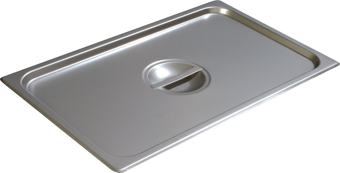 Carlisle 607000C DuraPan Stainless Steel 18-8 Solid Full Size Food Pan Cover, 20-3/4 x 12-3/4'' (Case of 6)