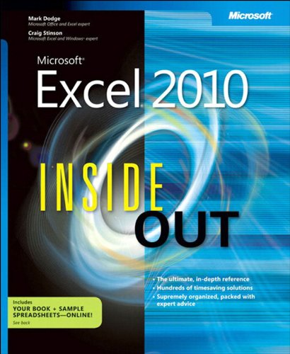 Microsoft Excel 2010 Inside Out Pdf