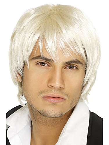Smiffys Men's Short Blonde Wig, One Size, Boy