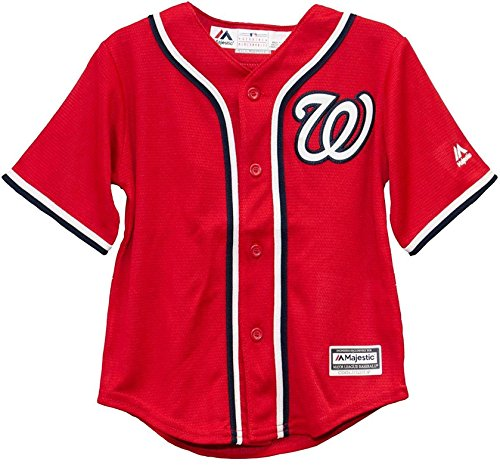(Washington Nationals Blank Red Toddler Cool Base Alternate Replica Jersey (Toddler 2T))