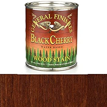 General Finishes WKPT Water Base Wood Stain, 1 pint, Black Cherry