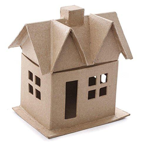 Ready to Decorate 6 Inch Paper Mache (Papier Mache House)