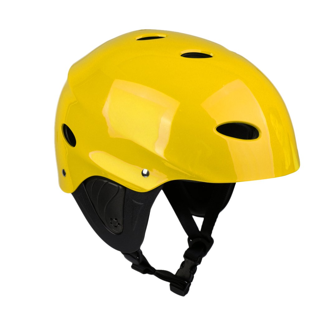 Yellow L MonkeyJack Universal Unisex Adult Kids Water Sports Safety Helmet Rescue Kayak Canoeing Boating Sailing Surfing SUP Paddle Board Wakeboard Jet Ski Kite Surf Protective Hard Cap CE Approved M//L 54-60cm//58-62cm