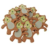 Homeford FCFE12563WP5 Monkey Animal Wooden Baby Favors (10 Pack), 5'', Brown