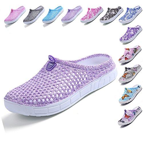 (Garden Clog Shoes Beach Footwear Water bash Womens Summer Slippers Purple 40)
