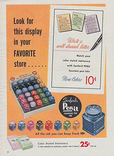 Look for this display in your favorite store Sanford's Penit Ink ad - Stores Sanford