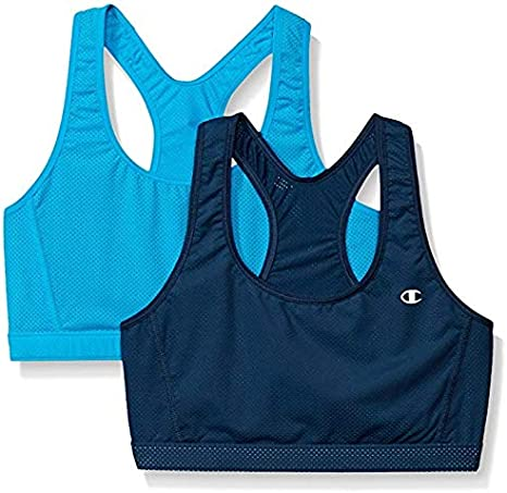 New Champion Womens 2 pack Reversible Sports Bra Size Small Color Pink and Aqua