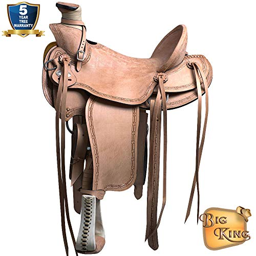 HILASON 17 in Western Horse Wade Saddle Leather Ranch Roping Tan