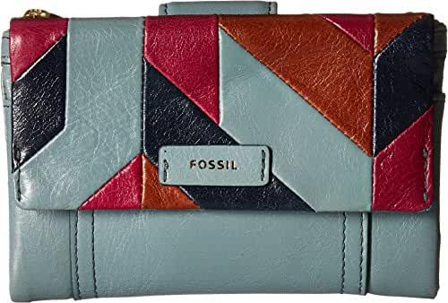 Fossil Ellis Multifunction Wallet Steel Blue Wallet