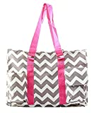 NGIL Chevron Stripe Canvas Multipurpose Utility Tote Bag Shopping Travel