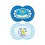 MAM Attitude 2 Piece Orthodontic Pacifier, Boys, 6+ Months