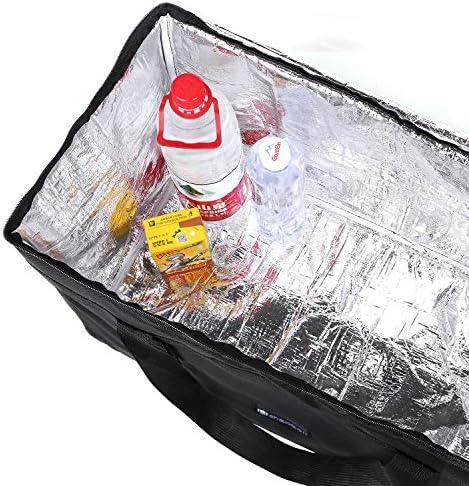 catering Cherrboll Bolsa t/érmica grande para alimentos reutilizable de grado comercial ligera transporte de pizza para ir de compras 23.5 x 12 x 15 comidas de uber restaurantes