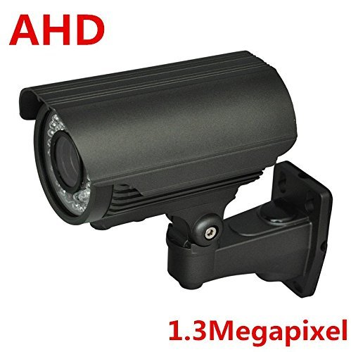 XYZ HD-AHD 1.3 Megapixel Weatherproof Bullet Metal Surveillance Security Camera with Varifocal 2.8-12mm Lens(Night Vision and Outdoor & Indoor Use & Only work with HD-AHD DVR)