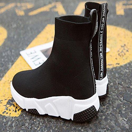 Gym Anti Black Speed Sportschuhe Sohle Rutsch JIANF Gummi Knitted Outdoor Elastische Schuhe Sportschuhe Damen Sportschuhe Socken Comfort Shoes Twvq6F