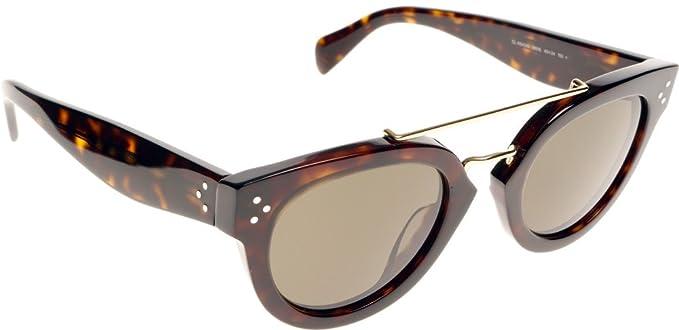 a6ef21c9574 Celine 41043S 0861E Tortoise and Dark Havana New Pretty Aviator Sunglasses  Lens  Amazon.co.uk  Clothing