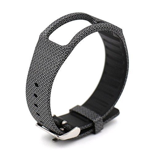 Woodln Smart Watch Wireless Replacement Bracelet Bands For Samsung Galaxy Gear Fit R350 (Black Cross)