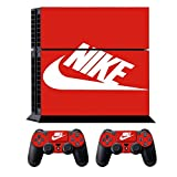 T-Queen Nike Logo Shoe Box Whole Body Vinyl Skin Sticker Decal for PS4 Playstation 4 System Console and Controllers with 5 Light Bar Decal Sticker