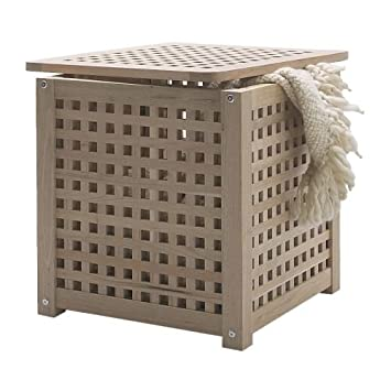 Amazon Com Ikea Hol Side Table Or Laundry Basket Storage