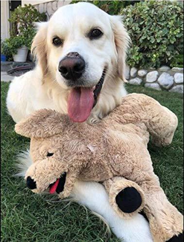 "LotFancy 20.8"" Dog Stuffed Animals Plush, Soft Cute Cuddly Golden Retriever Plush Toys, Large Stuffed Dog, Gift for Kids, Pets, Beige"
