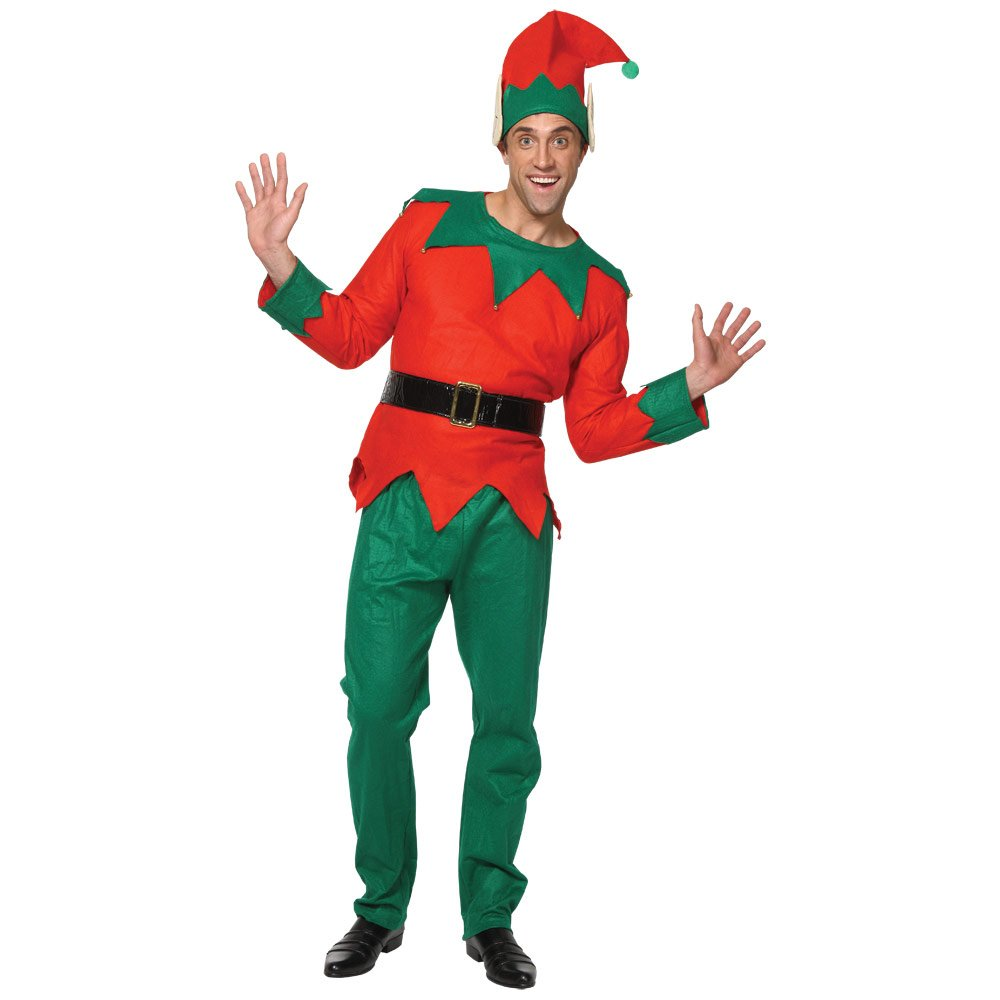 Amazon.com Mens Deluxe Christmas Elf Santau0027s Little Helper Fancy Dress Festive Xmas Costume Home Improvement  sc 1 st  Amazon.com & Amazon.com: Mens Deluxe Christmas Elf Santau0027s Little Helper Fancy ...