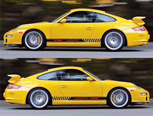 porsche 911 gt3 racing stripes sticker decal kit rs performance sports car turbocharged AG vw volkswagen 3.8L modified