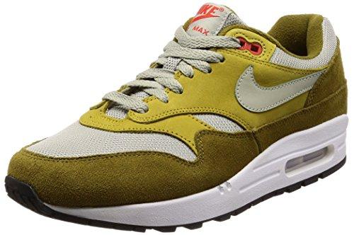 Nike Men's Air Max 1 Premium Retro, Olive Flak/Spruce Fog, 9 M US