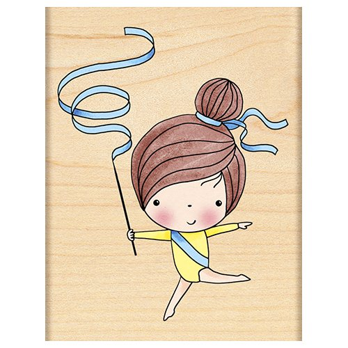 Penny Black Decorative Rubber Stamps, Gymnast Mimi by Penny Black Inc