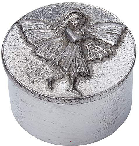 (iLuv Child's Cast Pewter Trinket Box - Fairy on Lid and Flowers Inside)