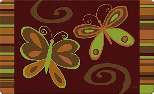 Toland Home Garden 830221 Butterfly Duet 18 x 30 Recycled Mat, USA Produced